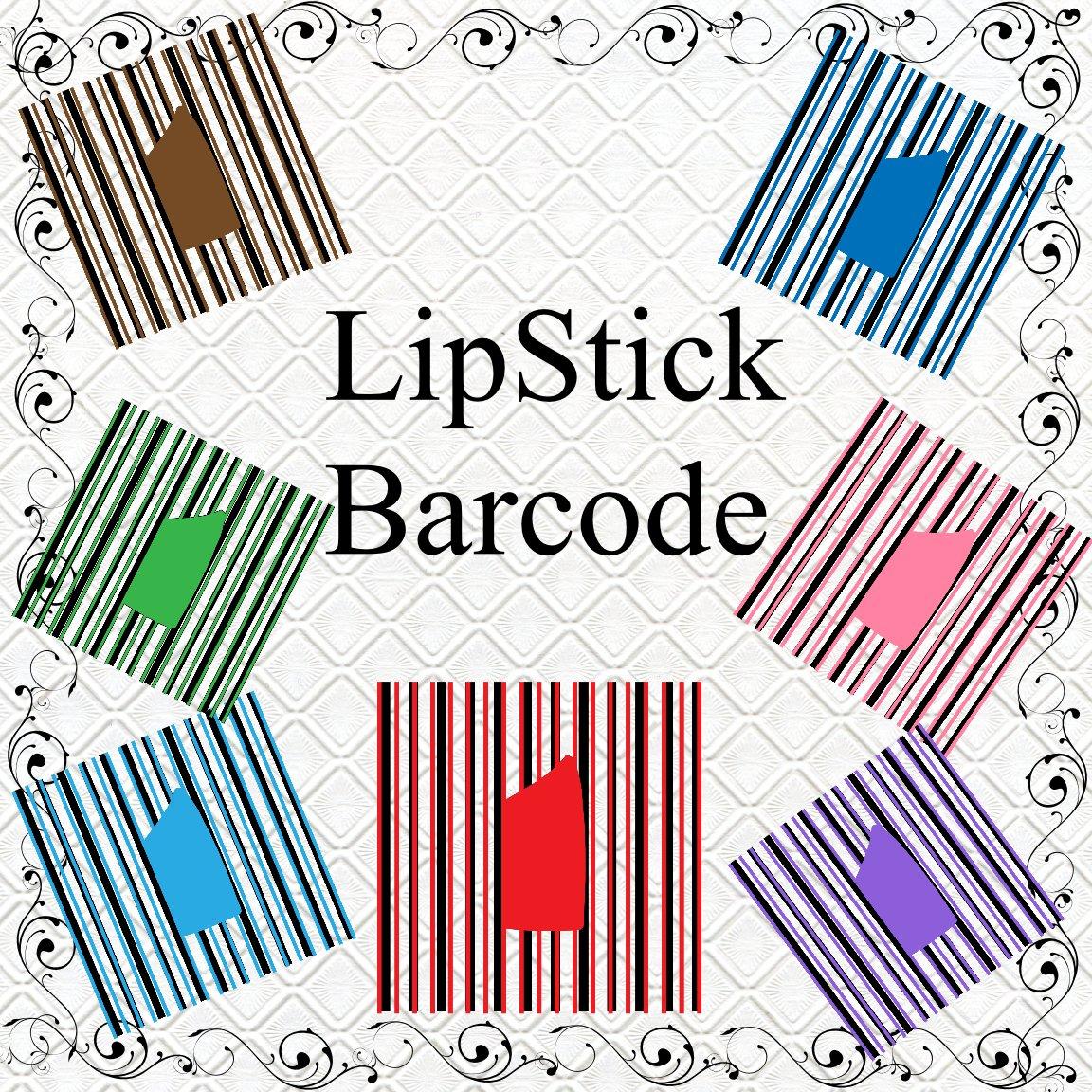 LipStick Barcode-Digital ClipArt-Art Clip-Gift Tag-Tshirt-Banner-Background-Gift Card.