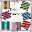 Drink Barcode-Digital ClipArt-Art Clip-Gift Tag-Scrapbook-Banner-Background-Gift Card.