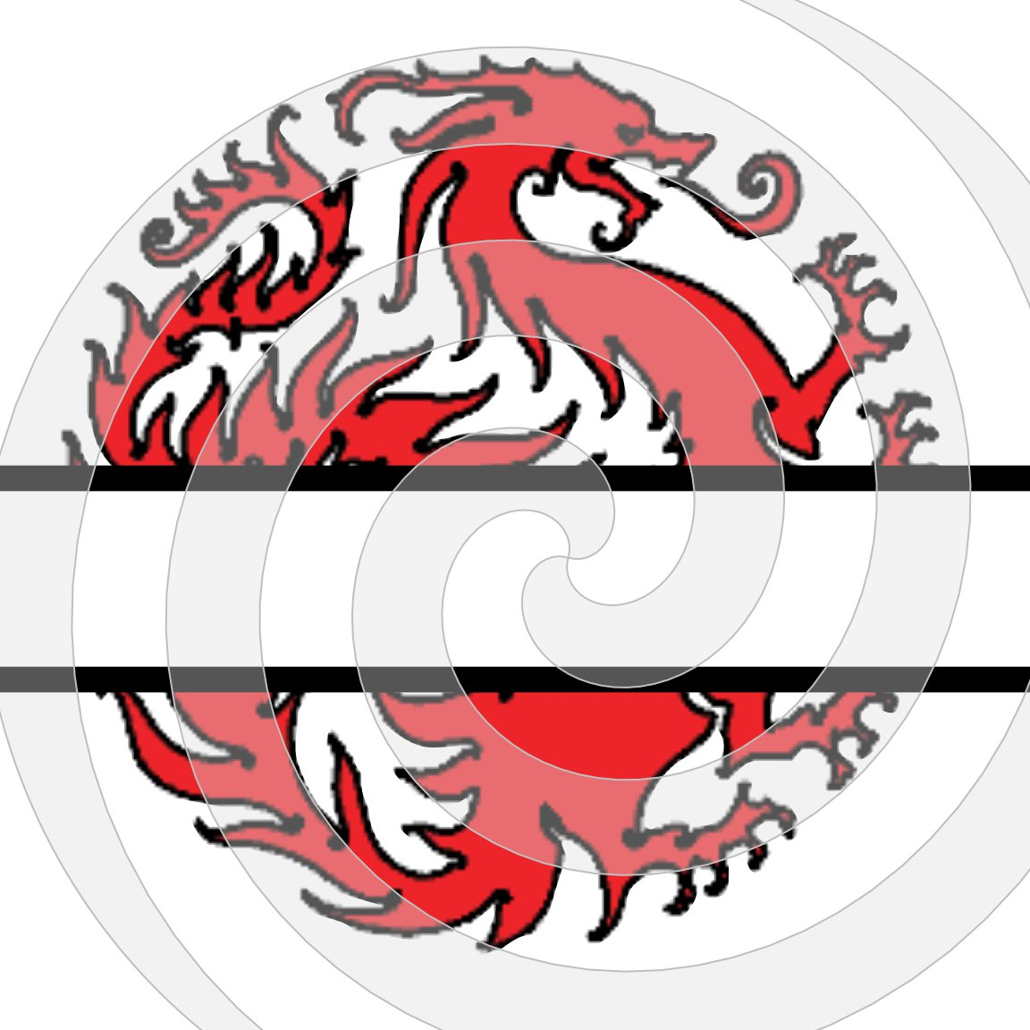 Dragon Split Monogram 3smp-Digital Clipart-Art Clip-Gift Cards-PNG-Banner-Gift Tag-Jewelry-T shirt