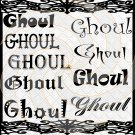 Ghoul Fonts 1a-Digital ClipArt-Gift Tag-Halloween-Scrapbook-Banner-Background