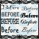 Before Font 1smp-Digital ClipArt-Gift Tag-T shirt-Jewelry-Holiday-Halloween