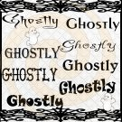 Ghostly Font 1smp-Digital ClipArt-Gift Tag-T shirt-Jewelry-Holiday-Halloween
