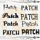 Patch Font 2smp-Digital ClipArt-Gift Tag-T shirt-Jewelry-Holiday-Halloween