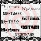 Nightmare Font 1smp-Digital ClipArt-Gift Tag-T shirt-Jewelry-Holiday-Halloween