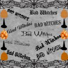 Bad Witches-Digital ClipArt-Art Clip-Gift Tag-Notebook-Halloween-Scrapbook