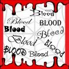 Blood-Digital ClipArt-Fonts-Art Clip-Gift Tag-Notebook-Halloween-Scrapbook