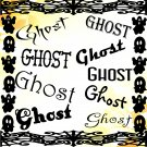 Ghost-Digital ClipArt-Fonts-Art Clip-Gift Tag-Notebook-Holiday-Scrapbook