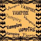 Vampire-Digital ClipArt-Fonts-Gift Tag-Halloween-Gift Card