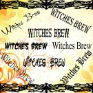 Witches Brew-Digital ClipArt-Gift Tag-Halloween-Fonts-Scrapbook-Gift Card.