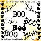 Boo-Digital ClipArt-Fonts-Art Clip-Gift Tag-Notebook-Halloween-Scrapbook