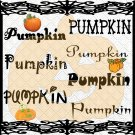 Pumpkin Font 1smp-Digital ClipArt-Gift Tag-T shirt-Jewelry-Holiday-Halloween