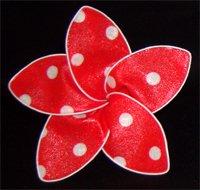 Red w/ White polka dots