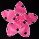 Pink w/ black polka dots