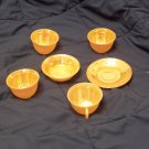Fire-King luster-ware 6 pieces 4 cups 1 saucer 1 bowl.