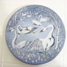 haviland Limoges seven swans a swimming 1976 Christmas collector plate France