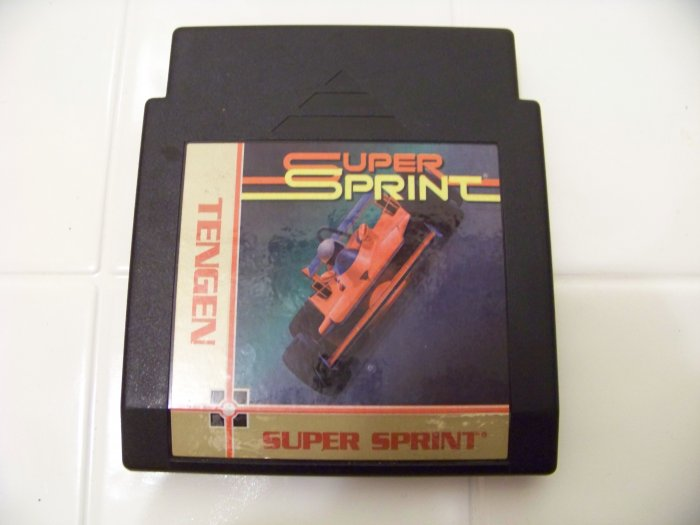 super sprint  tengen game cartridge for nes nintendo