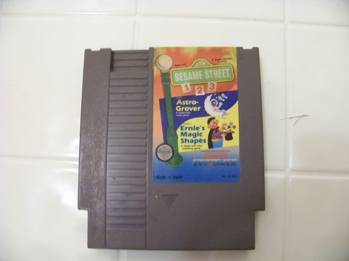 nintendo sesame street 1 2 3 game cartridge for nes