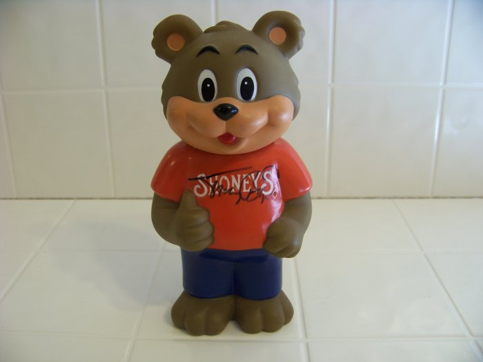 Tracy Byrd autographed Shoney's bear bank