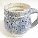 blue speckled Jamestown pottery mug cup