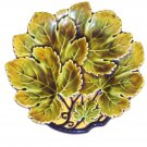 Czechoslovakian grape leafs shaped plate