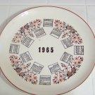 1965 calendar plate