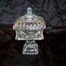 beautiful clear glass pedestal candy dish