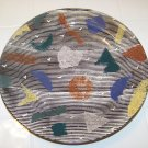 colorful artist made ceramic plate