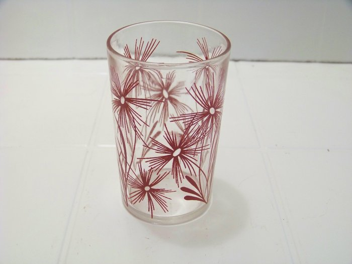 red cornflower swanky swig juice glass