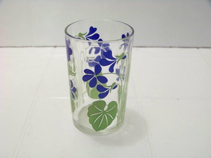 blue violet swanky swig juice glass