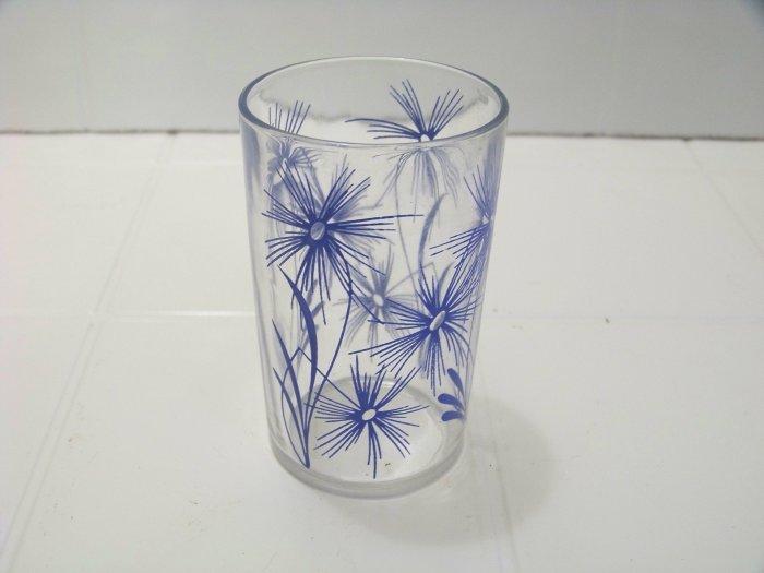 blue cornflower swanky swig juice glass