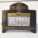 Art Deco brass calendar K&O 1917 pat date great piece