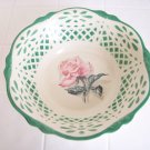 Homer Laughlin Virginia rose green lattice trimmed bowl B 53 N 8