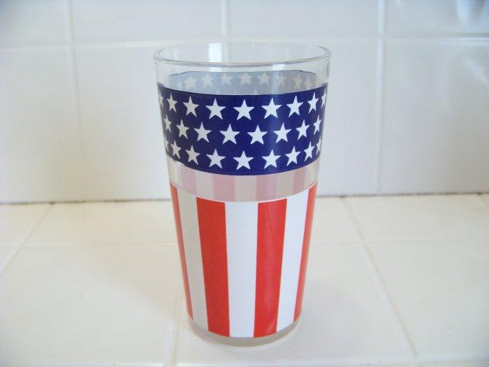 United States flag glass