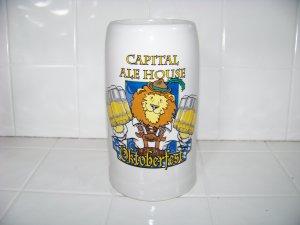 huge Capital Ale house Oktoberfest beer stein mug lion