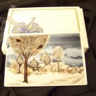 Villeroy & Boch Vibocard wall hanging Winter village postcard with box
