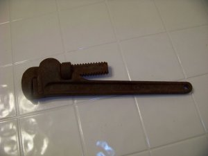 "Craftsman 14"" pipe wrench vintage tool"