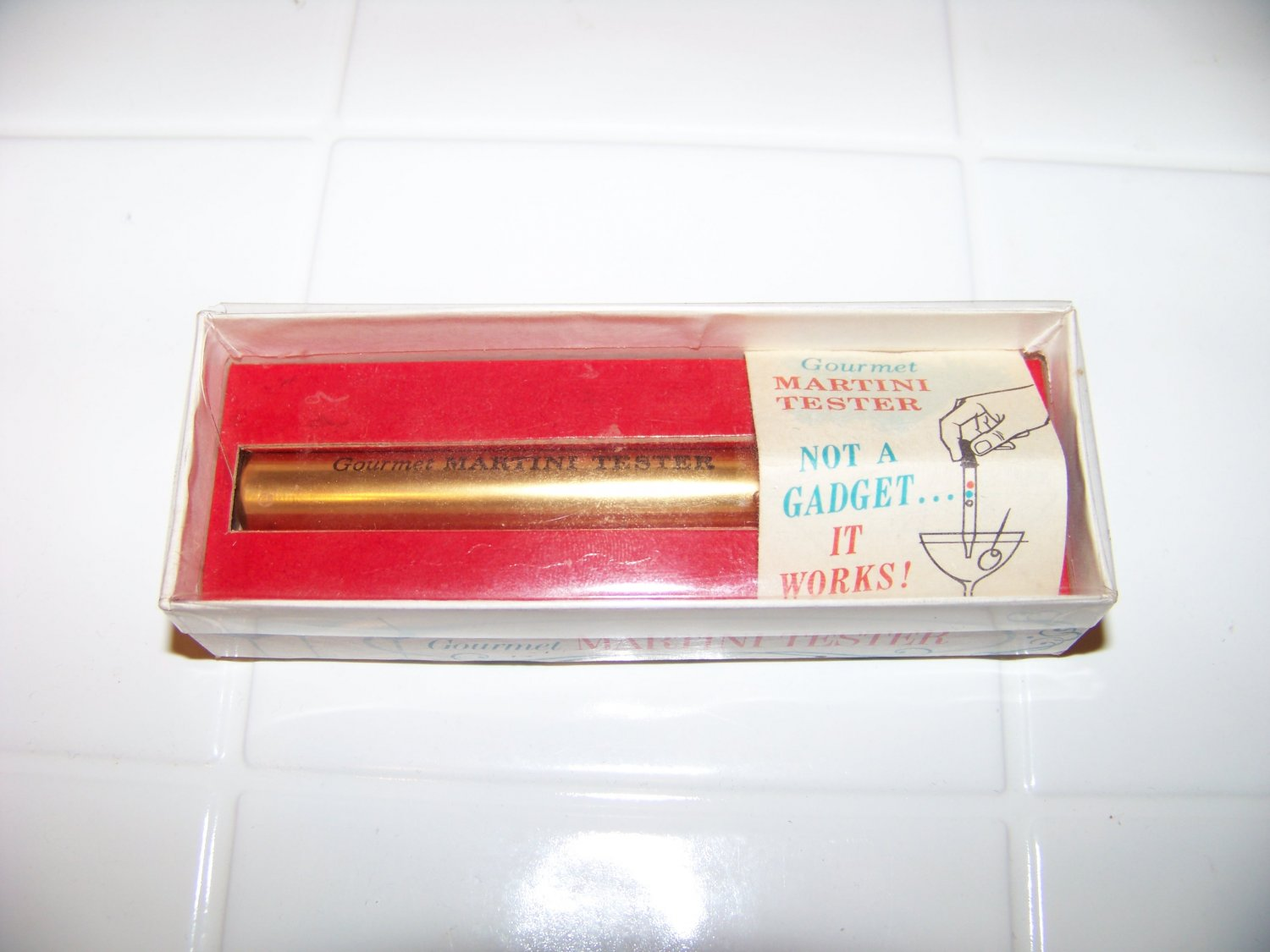 Gourmet martini tester in box a great item for your bar