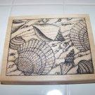 large seashell rubber stamp Peddlers pack stampworks 1999