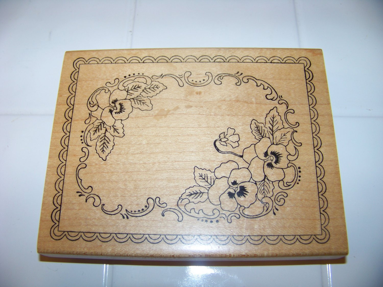 large flower border rubber stamp 1998 sweet impressions
