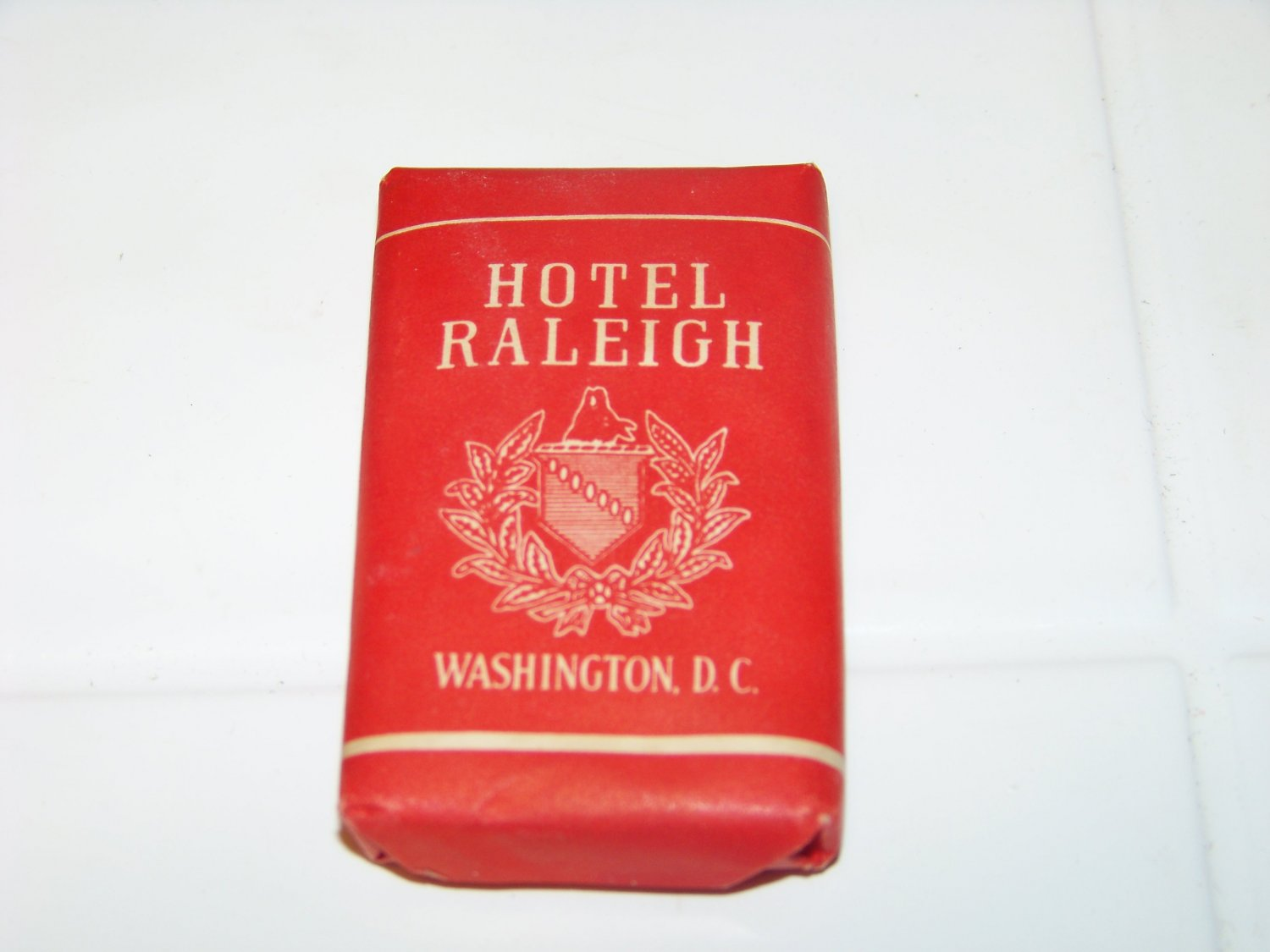 vintage hotel Raleigh mini advertising bar soap