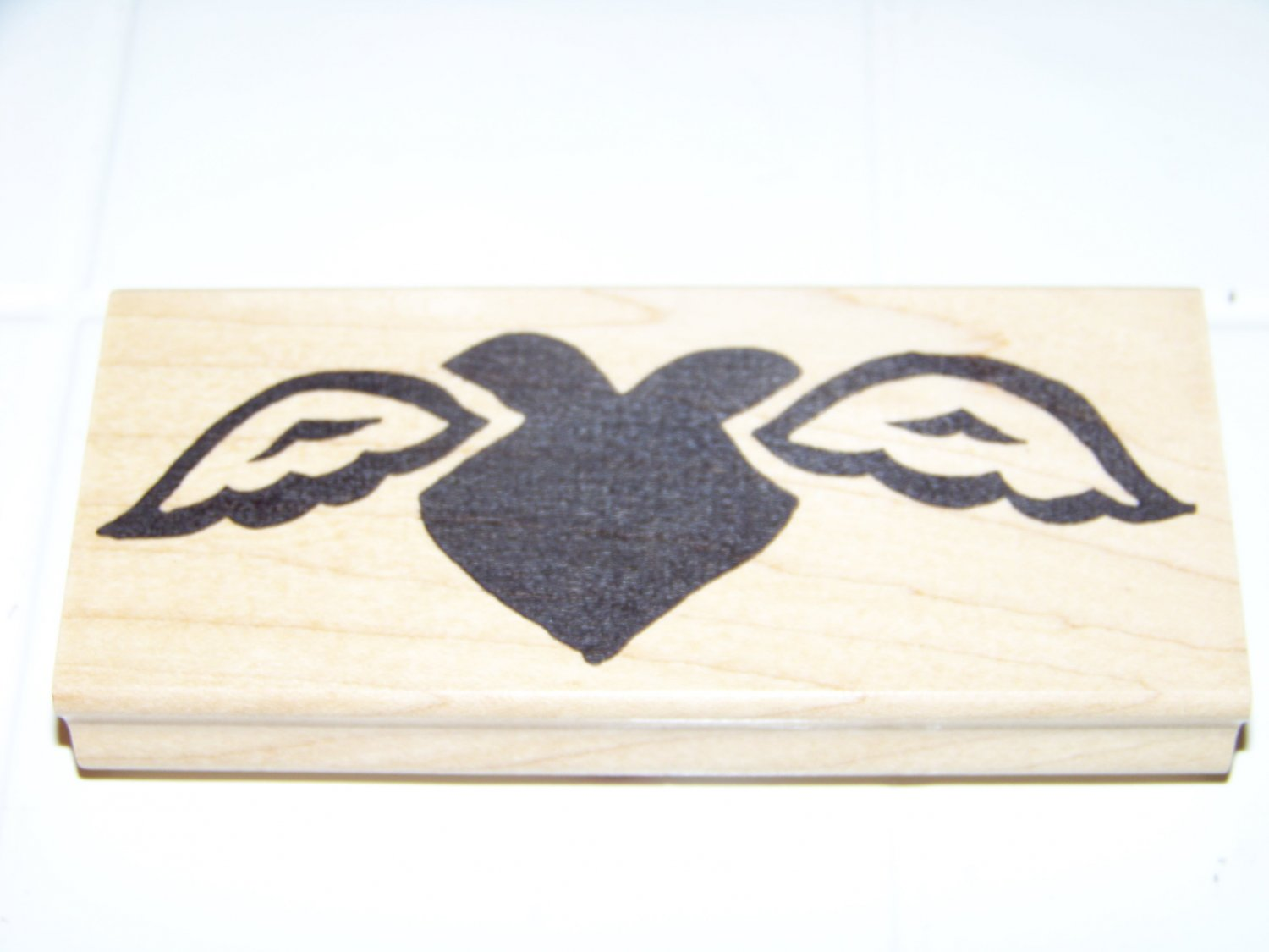 heart with wings rubber stamp hot potatoes