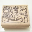 rubber stamp garden thank you stamp great for scrapbooking cards and crafts