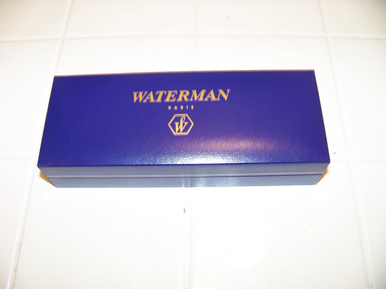 Waterman Paris blue and gold pen box