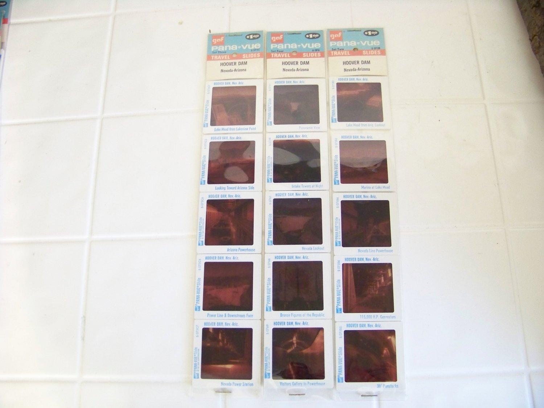 3 packs of Vintage gaf Pana-vue travel slides Hoover Dam Nevada Arizona 20 slides