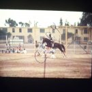 vintage photo slide of a horse jumping 1968