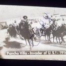 vintage slide Pancho Villa – Invader of U.S. 1916 black and white slide