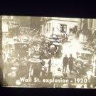 vintage slide Wall St. explosion 1920 black and white slide