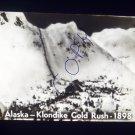 vintage slide Alaska Klondike Gold Rush 1898 black and white slide