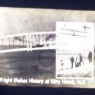 vintage slide Wright makes history at Kitty Hawk N.C. black and white slide