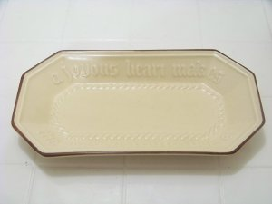 Pfaltzgraff bread tray brown border a joyous heart makes the loaves taste better
